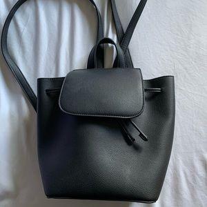 Mini black backpack bag